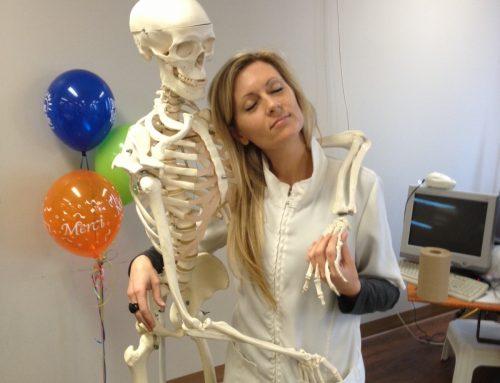 Pascale avec M. squelette