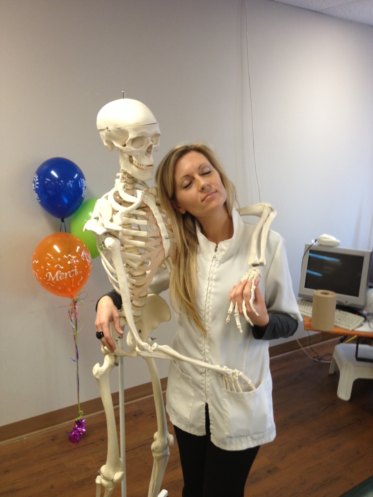 Clinique Pascale Bélisle massothérapie kinésithérapie orthothérapie à Blainville sur la rive-nord de Montréal - Pascale avec son ami